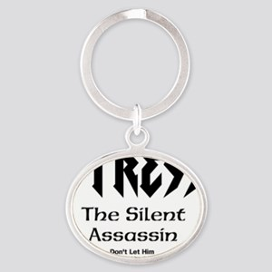 Stress The Silent Assassin Oval Keychain