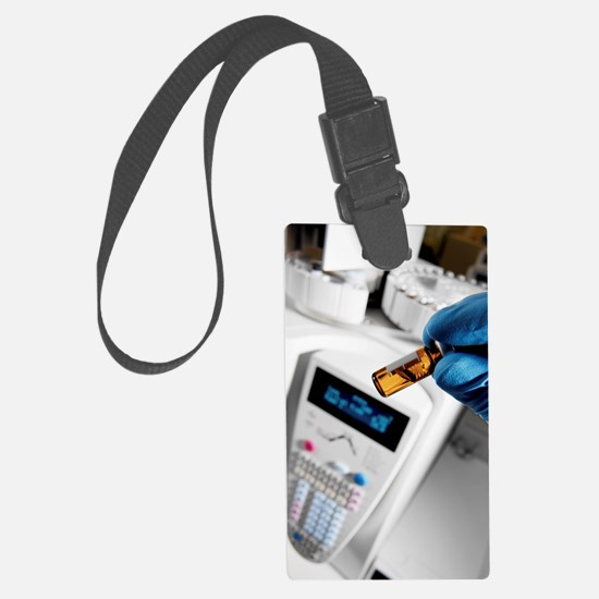 Gas chromatograph in a chemistry Luggage Tag