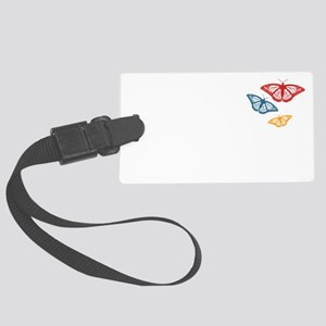 Be the Butterfly and Change Large Luggage Tag