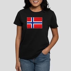 Norway flag Women's Dark T-Shirt