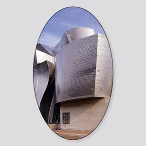 Guggenheim museum, Bilbao, Spain Sticker (Oval)