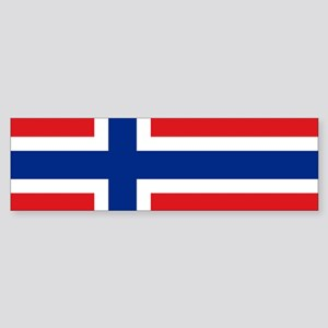 Norway flag Sticker (Bumper)