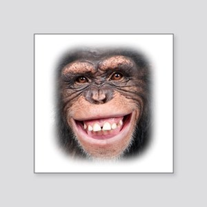 "Chipper Chimp Square Sticker 3"" x 3"""