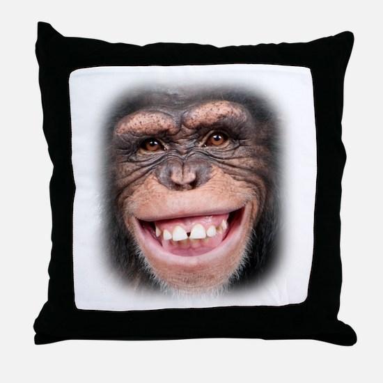 Chipper Chimp Throw Pillow
