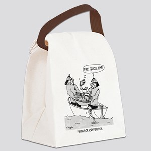 Fishing For Dumb Fish Canvas Lunch Bag