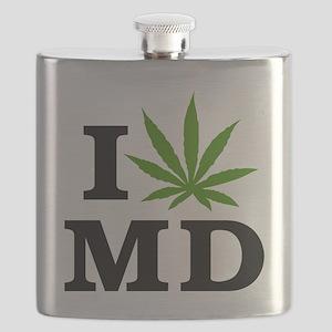 I Love Cannabis Maryland Flask