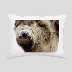 Sloth Bucket Bag Rectangular Canvas Pillow