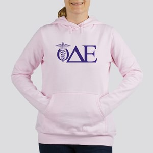 Phi Delta Epsilon Letter Women's Hooded Sweatshirt