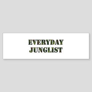 Everyday Junglist (Black Border) Bumper Sticker