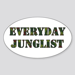 Everyday Junglist (Black Border) Oval Sticker