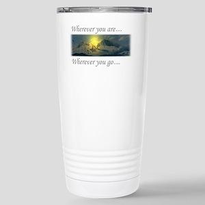 Yule-mountain-card Stainless Steel Travel Mug