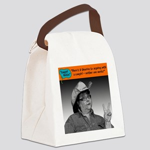 There's 2 theories... Canvas Lunch Bag