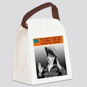 You can get by on your charm... Canvas Lunch Bag