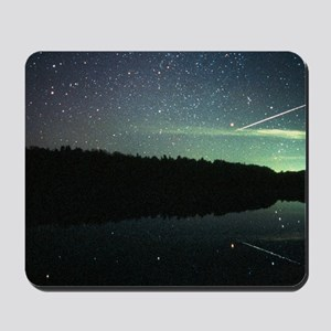 Meteor over lake Mousepad