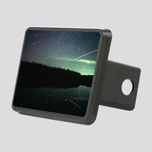 Meteor over lake Rectangular Hitch Cover