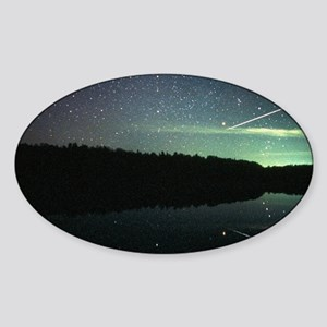 Meteor over lake Sticker (Oval)