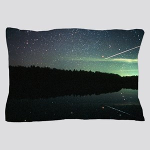 Meteor over lake Pillow Case