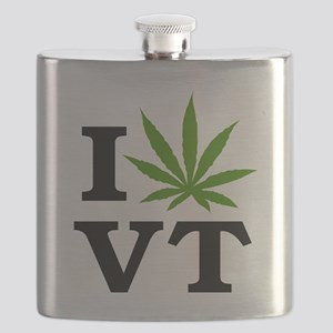 I Love Cannabis Vermont Flask