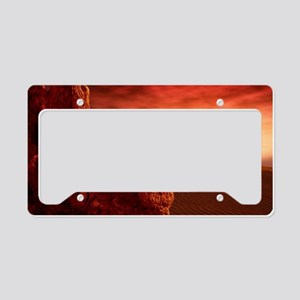 Martian sunrise License Plate Holder