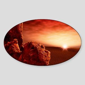 Martian sunrise Sticker (Oval)