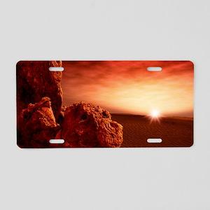 Martian sunrise Aluminum License Plate