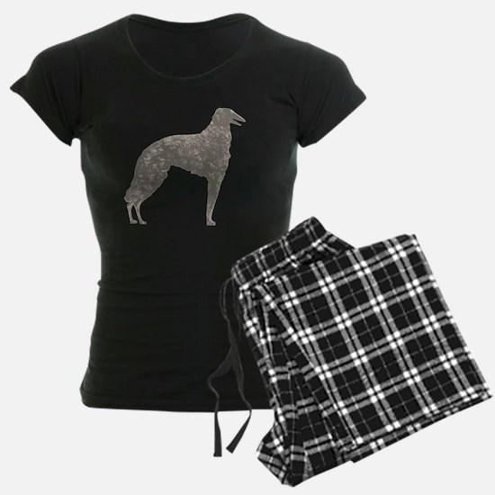 Borzoi Silhouette Colored Pe Pajamas