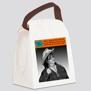 Why are cowgirls over 40 so popul Canvas Lunch Bag