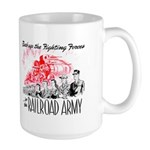 The Railroad Army Large Mug