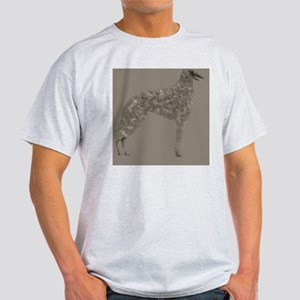 Borzoi Silhouette Tan Light T-Shirt