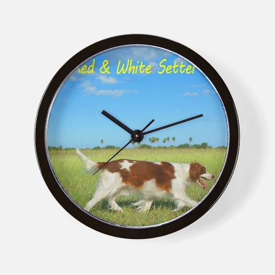 2013 Irish Red and white Setter Calenda Wall Clock