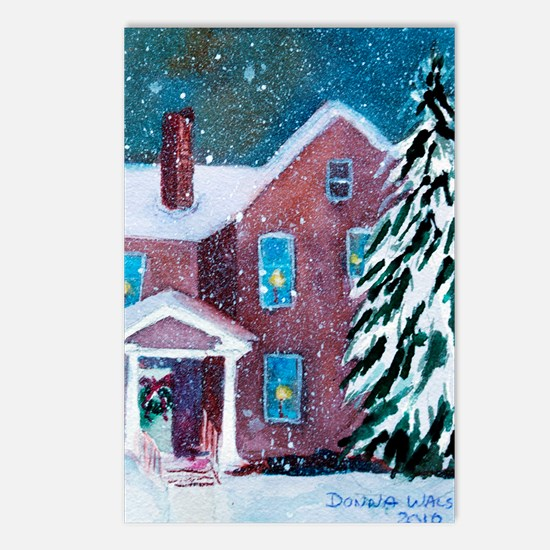 White Christmas Postcards (Package of 8)