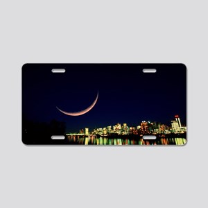 Moon over Vancouver Aluminum License Plate