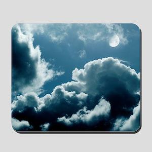 Moonlit clouds Mousepad