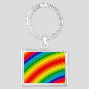 Rainbow Striped Pattern Landscape Keychain