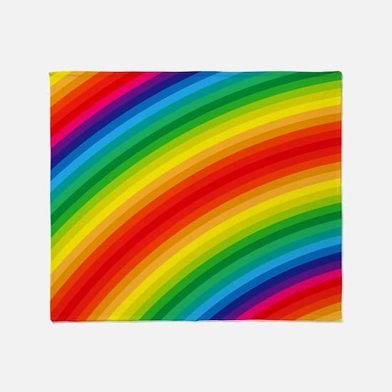Rainbow Striped Pattern Throw Blanket