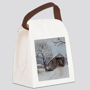 Covered Bridge Canvas Lunch Bag