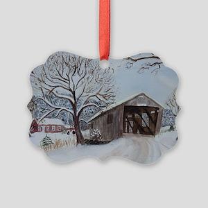 Covered Bridge Picture Ornament