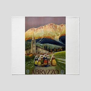 abruzzo - anonymous - circa 1920 - poster Throw Bl