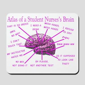atlas student nurse brain PINK Mousepad