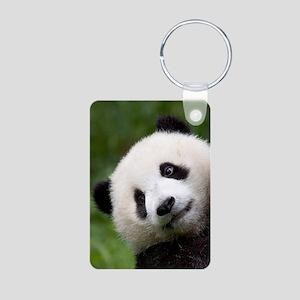 Panda Cub Aluminum Photo Keychain