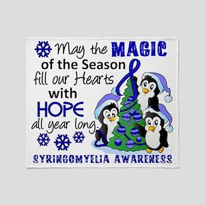 D Syringomyelia Christmas Penguins Throw Blanket