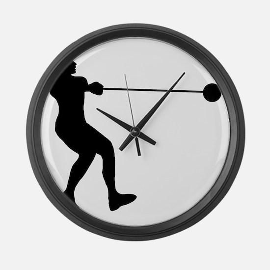 Hammer-Throw-AA Large Wall Clock