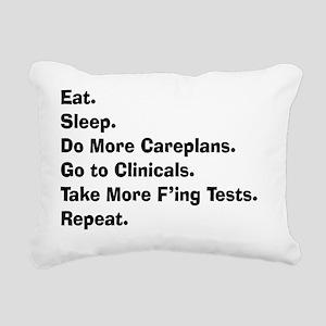 eat sleep student nurse  Rectangular Canvas Pillow