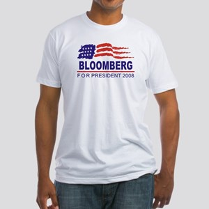Michael Bloomberg 2008 (wave) Fitted T-Shirt