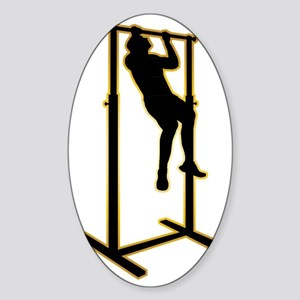 Pull-Up-Bar-AD Sticker (Oval)