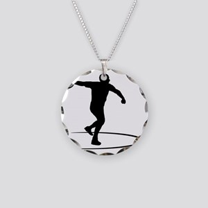 Discus-Throwing-AA Necklace Circle Charm