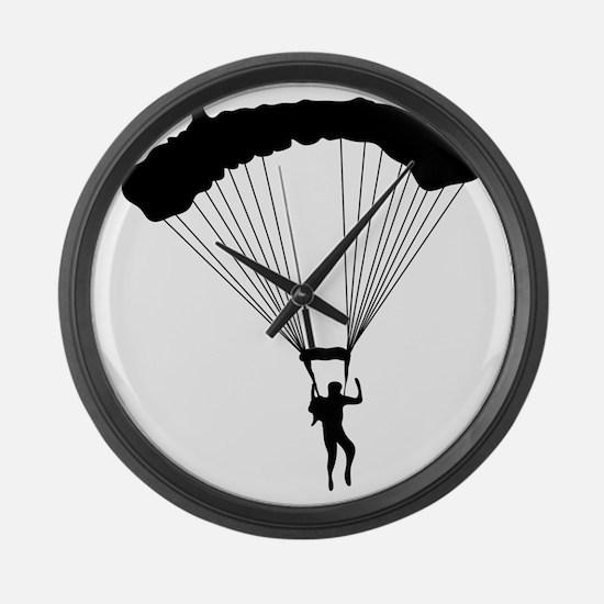 Parachuting-AA Large Wall Clock