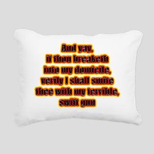 VERILY Rectangular Canvas Pillow