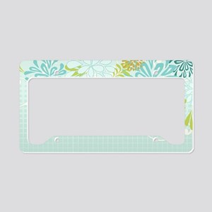 Mod Mum Modern Chrysanthemum  License Plate Holder