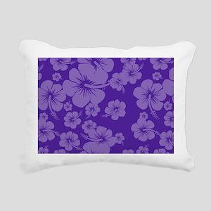 Purple Hibiscus License  Rectangular Canvas Pillow